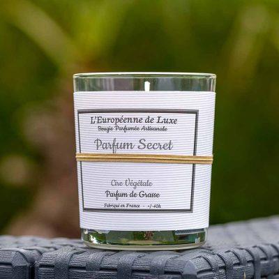 bougie en cire végétale 100% sans OGM senteur parfum secret