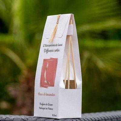 bouquet parfumé, diffuseur rotin 100 ml pour parfum senteur fleur d'amandier