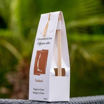 bouquet parfumé, diffuseur rotin 100 ml pour parfum senteur patchouli