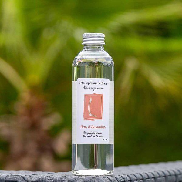 recharge 200 ml pour diffuseur de rotin senteur fleur d'amandier