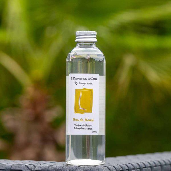 recharge 200 ml pour diffuseur rotin senteur fleur de monoï