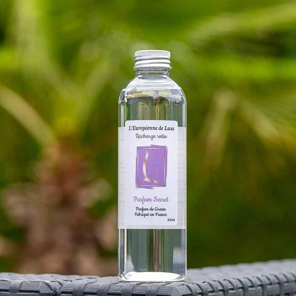 recharge 200 ml pour diffuseur rotin senteur parfum secret