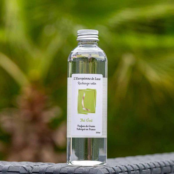 recharge 200 ml pour diffuseur rotin senteur thé vert