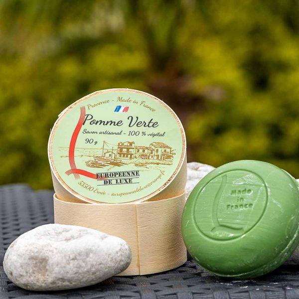 savon senteur pomme verte aux huiles pures végétales, fabrication française