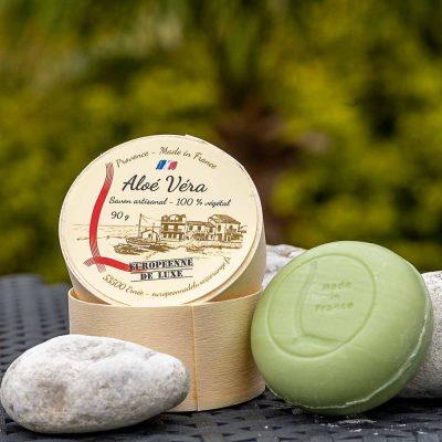 savon senteur aloé véra aux huiles pures végétales, fabrication française