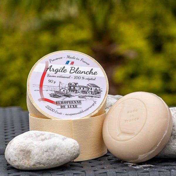 savon senteur argile blanche aux huiles pures végétales, fabrication française