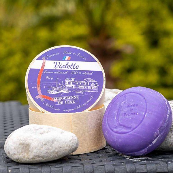 savon senteur violette aux huiles pures végetales,fabrication française