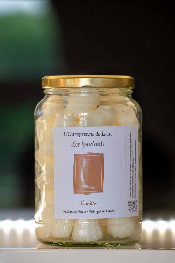 fondants en cire végétale senteur vanille, fabriqués en France