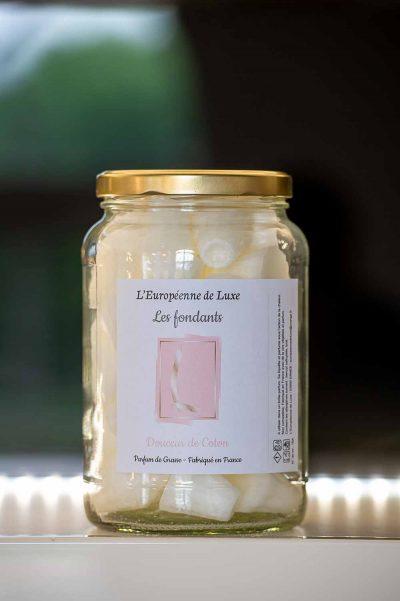 fondants en cire végétale senteur douceur de coton, fabriqués en France