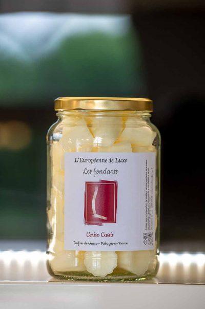 fondants en cire végétale senteur cerise cassis, fabriqués en France
