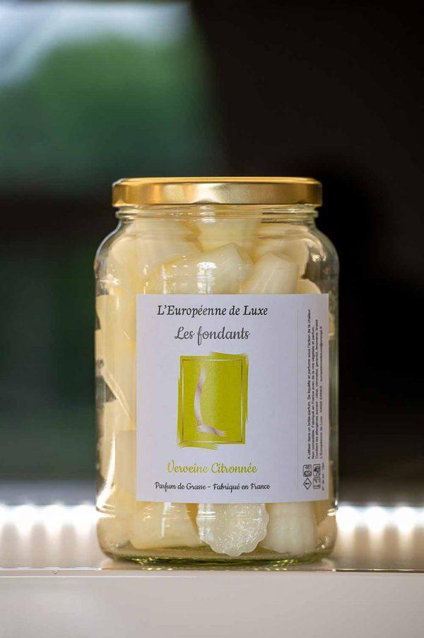 fondants en cire végétale senteur verveine citronnée, fabriqués en France