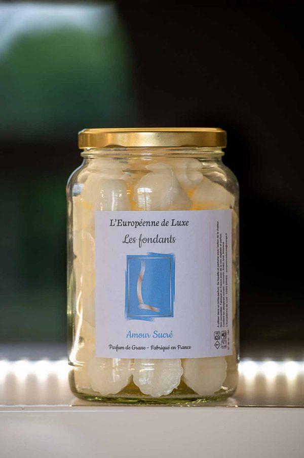 fondants en cire végétale senteur amour sucré , fabriqués en France